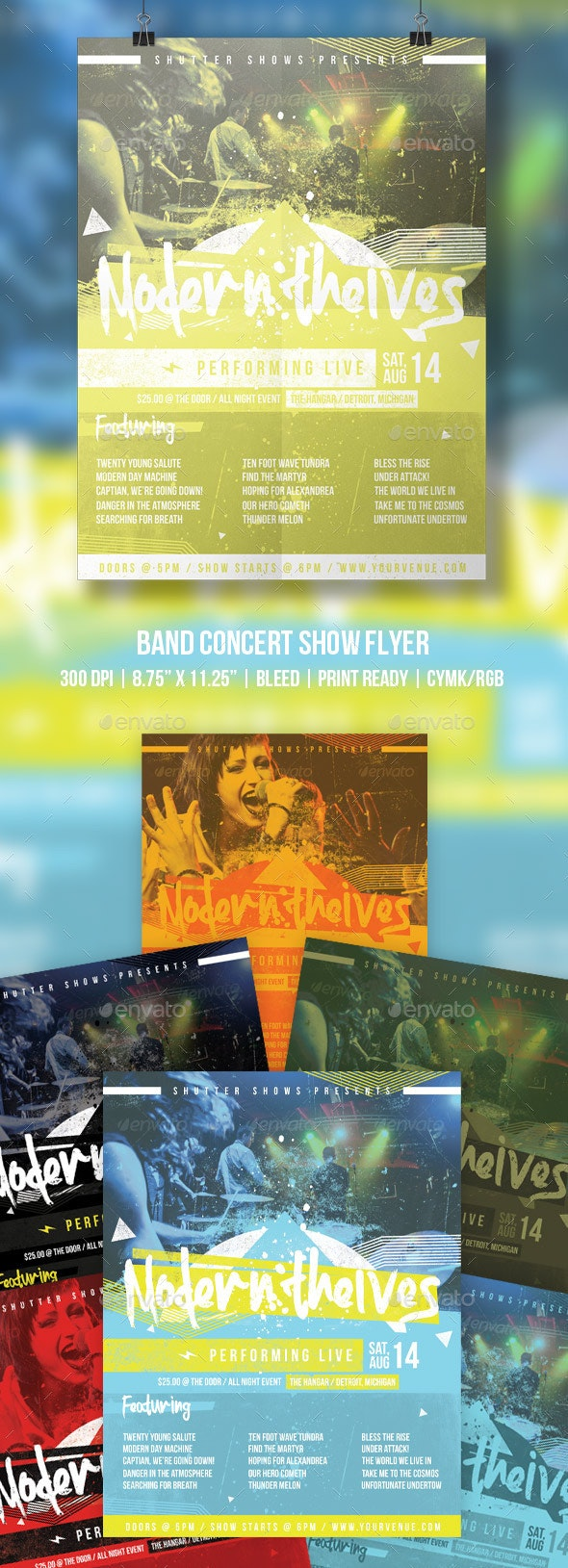 Band Concert Show Flyer - Concerts Events