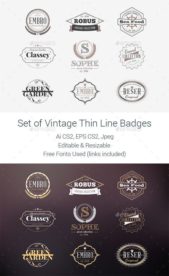Set of Vintage Badges  - Badges & Stickers Web Elements