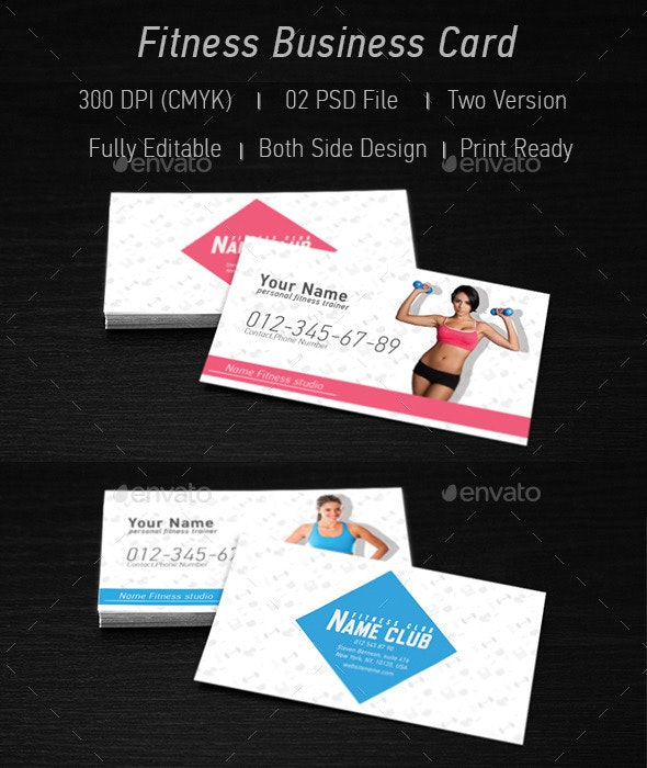 Fitness Business Card - Business Cards Print Templates