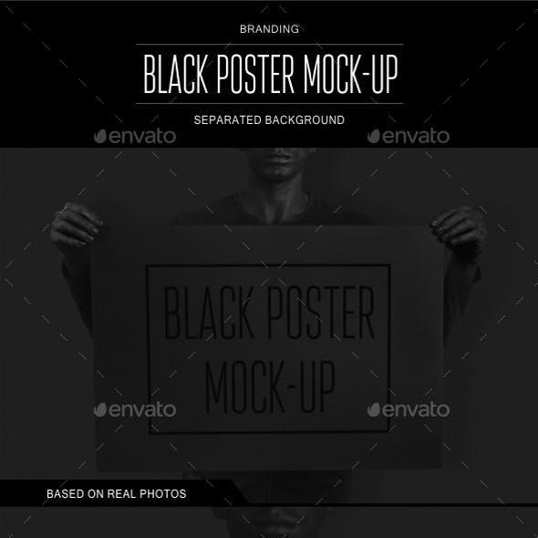 Black Poster Mock-up