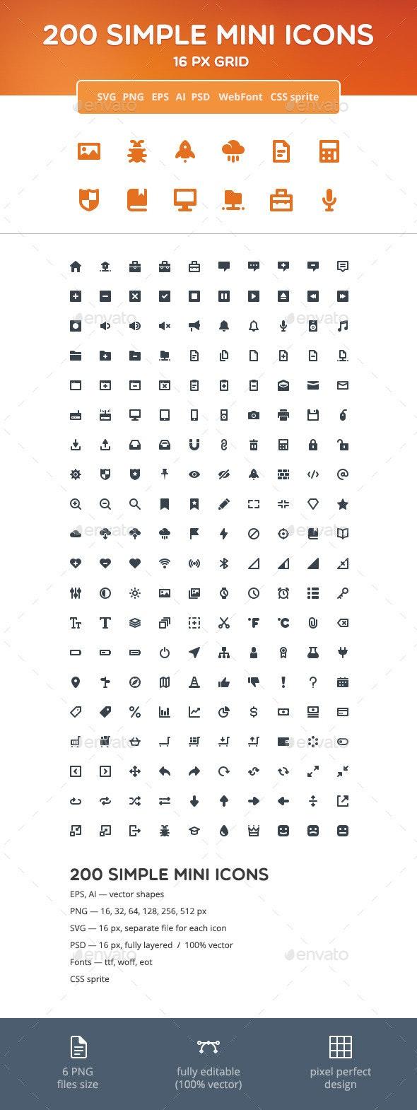 Simple Mini Icons
