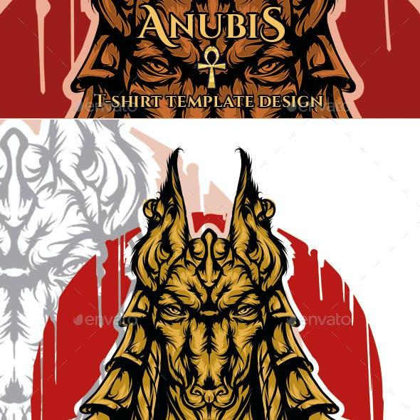 Anubis T-shirt Template