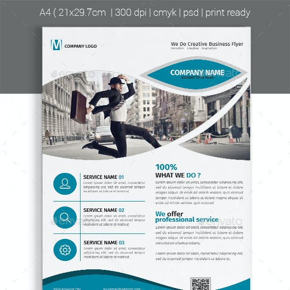 A4 Corporate Business Flyer Template Vol 06