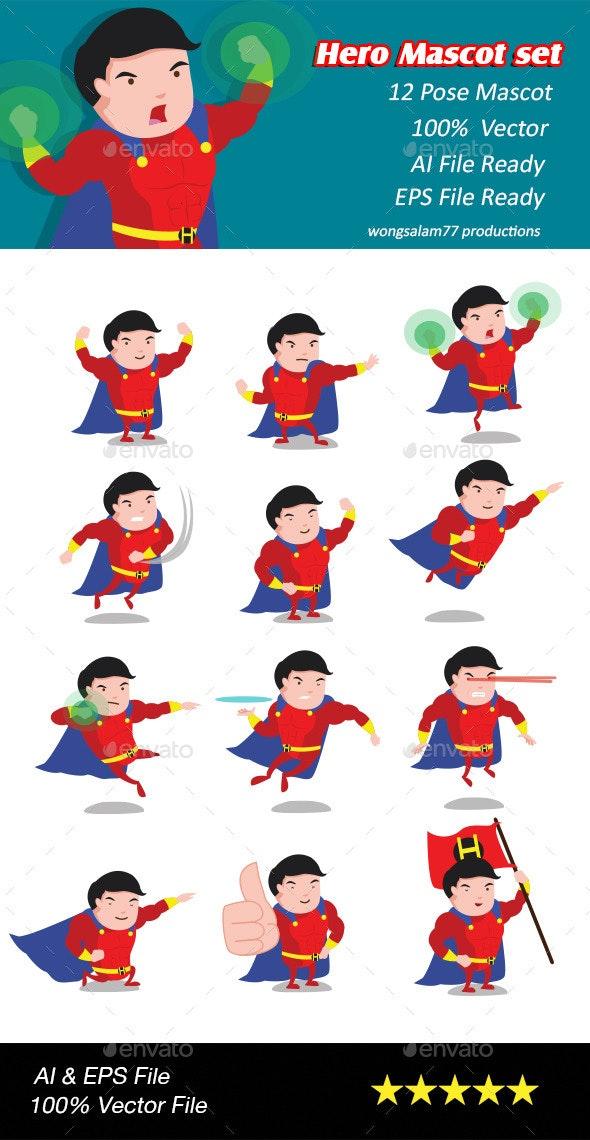 Hero mascot set - People Characters