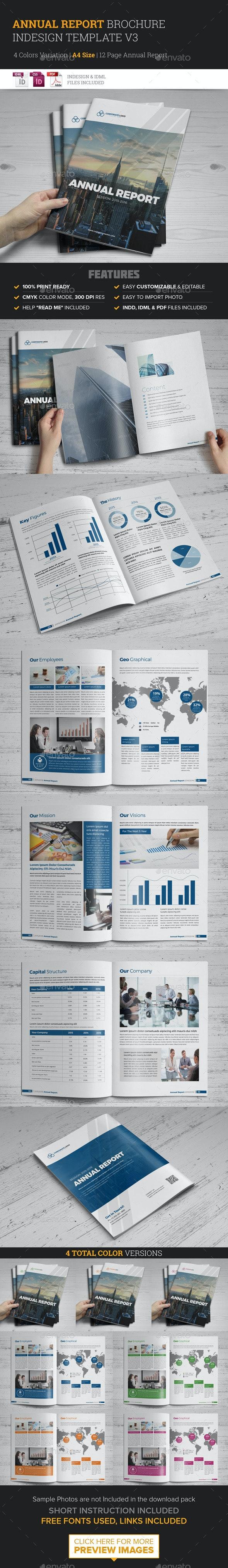 Annual Report Brochure Indesign Template 3 - Corporate Brochures