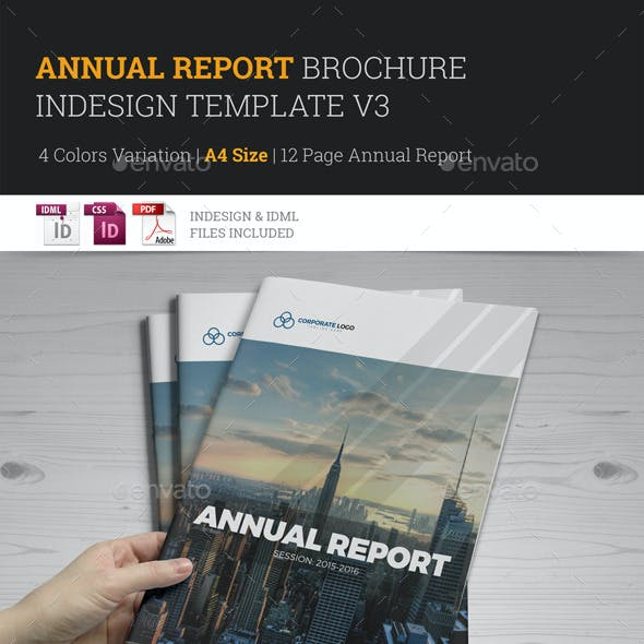 Annual Report Brochure Indesign Template 3