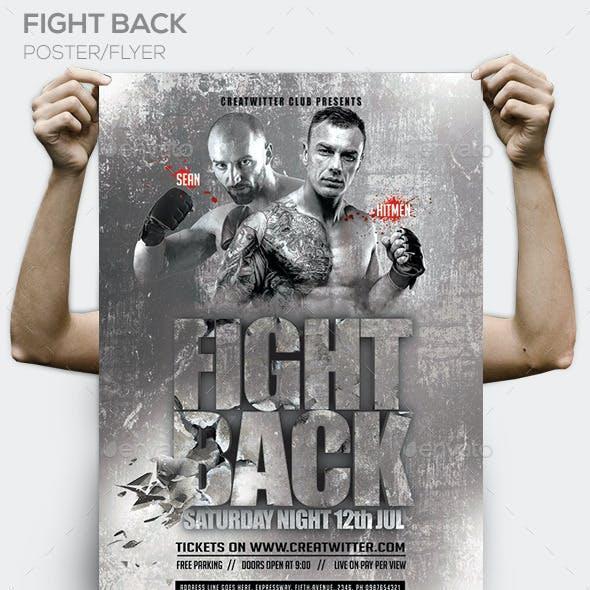 Fight Back PSD Flyer / Poster