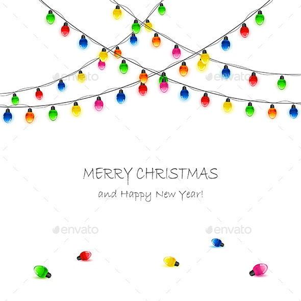 Holiday Background with Christmas Lights - Christmas Seasons/Holidays