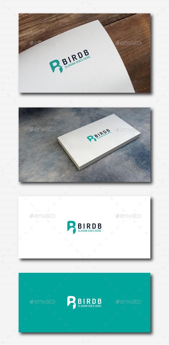 Bird B Negative Logo - Animals Logo Templates