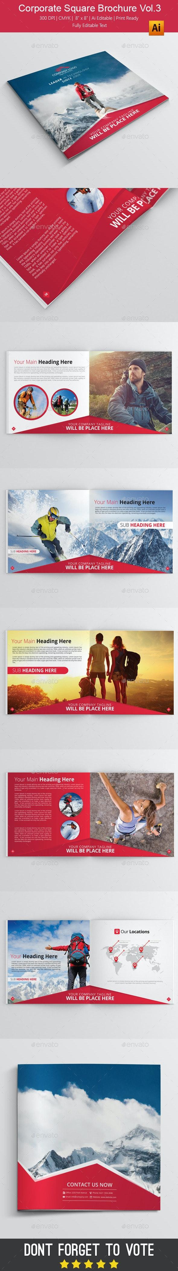 Corporate Square Brochure vol.3 - Brochures Print Templates