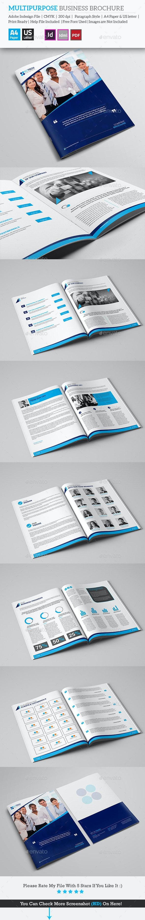 Multipurpose Business Brochure - Brochures Print Templates