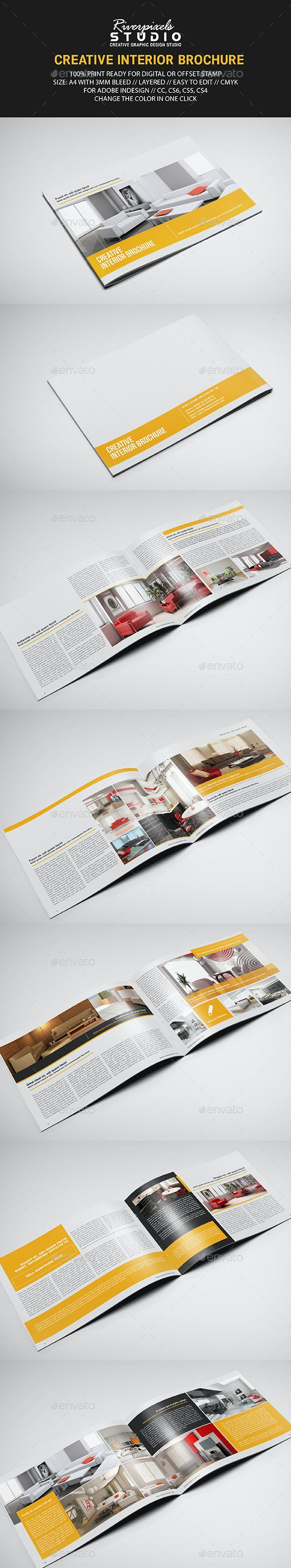 Interior Landscape Brochure Template - Informational Brochures