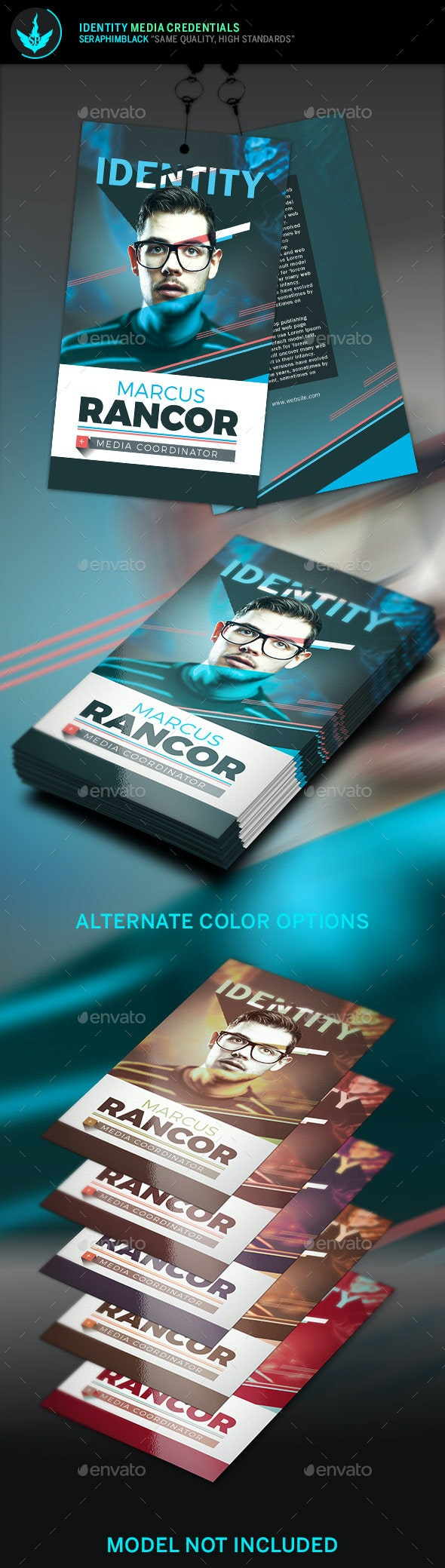 Identity Media Credentials Template - Miscellaneous Print Templates