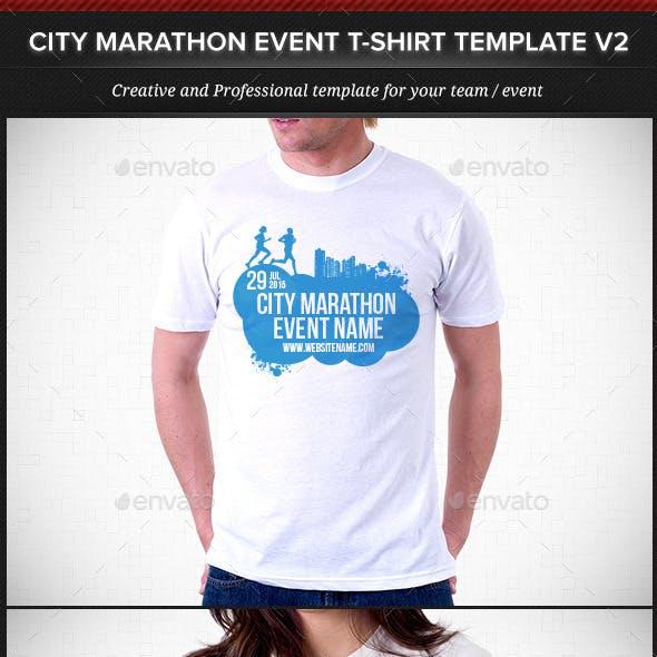 City Marathon Event T-Shirt Template V2