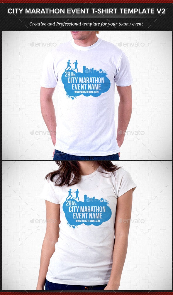 City Marathon Event T-Shirt Template V2 - Events T-Shirts