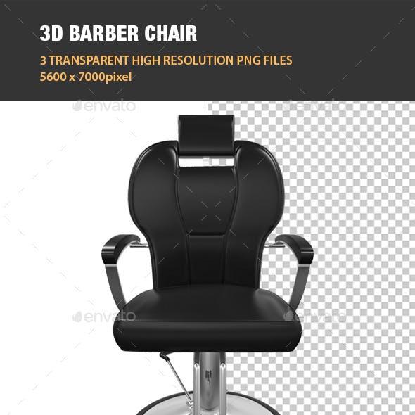 3D Barber Chair
