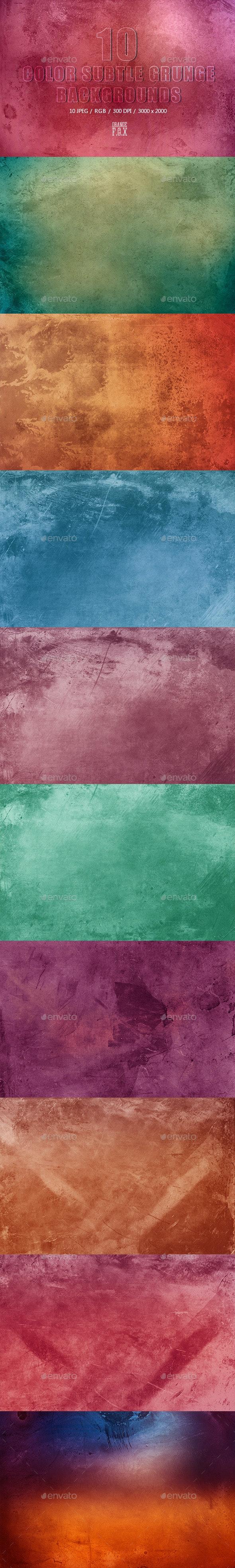 10 Color Subtle Grunge Backgrounds - Abstract Backgrounds