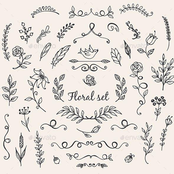 Doodle Nature Design Elements
