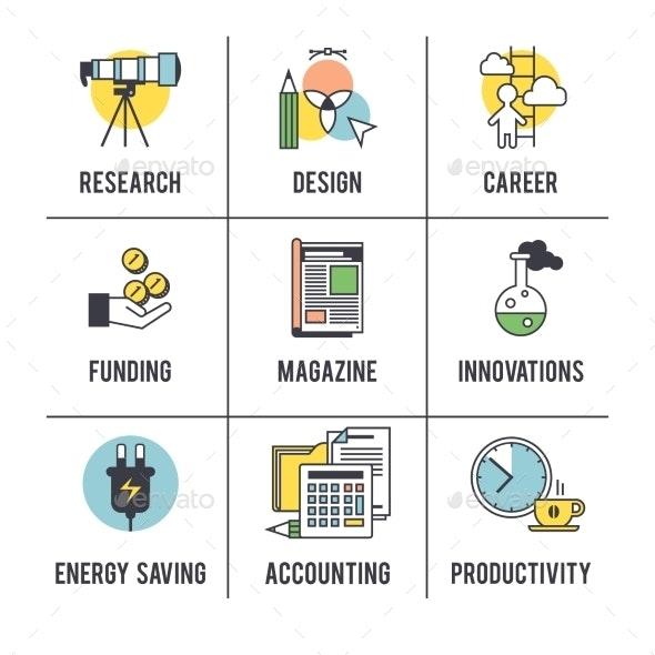The Business Concept Set.  - Concepts Business