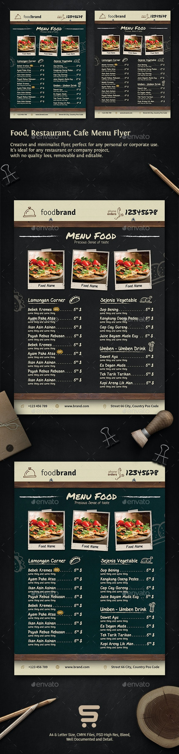 Food-Restaurant-Cafe-Menu Flyer - Restaurant Flyers