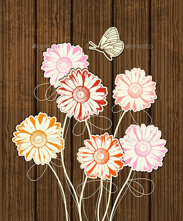 Decorative Floral Background - Flowers & Plants Nature