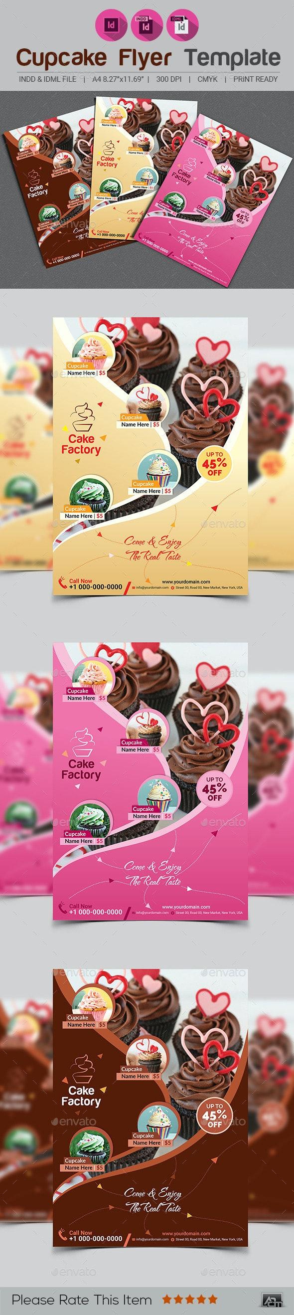 Cupcake Flyer Template V2 - Restaurant Flyers