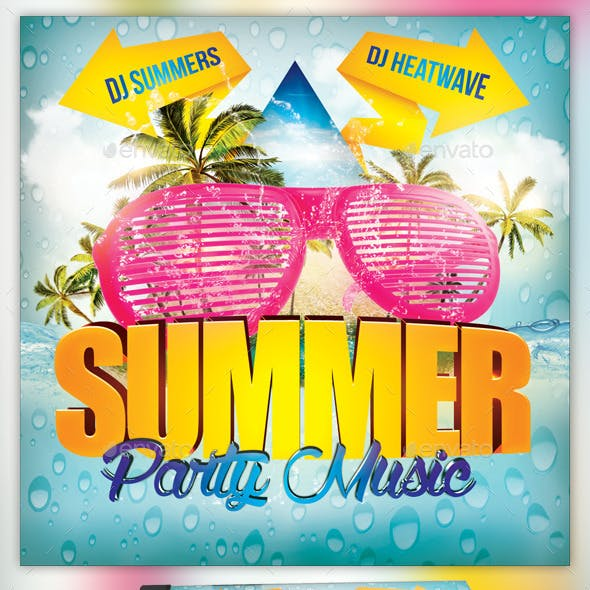 Summer Party Music CD Template