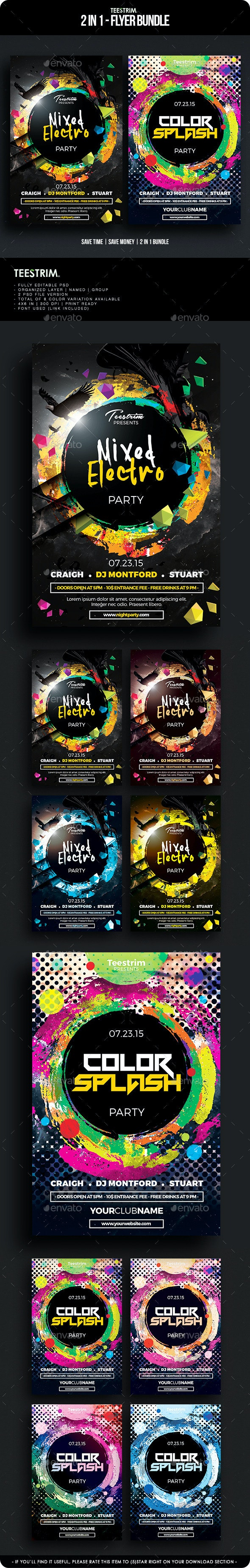 2 in 1 - Flyer Bundle V.5 - Clubs & Parties Events