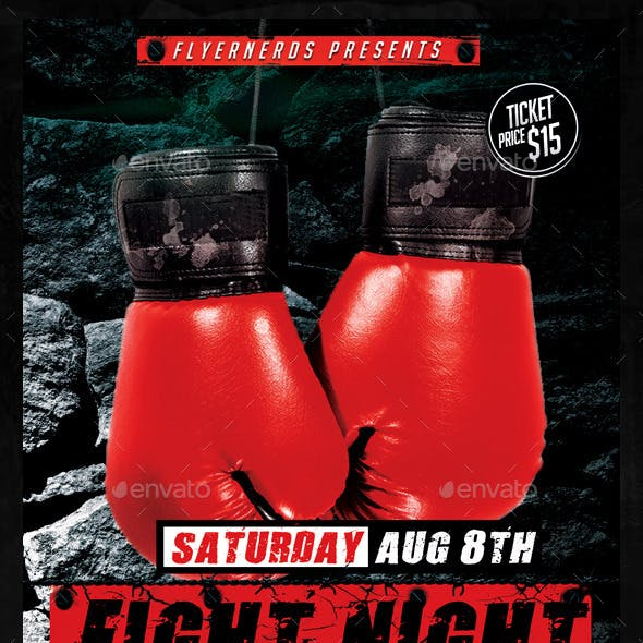 Fight Night Championships Sports Flyer