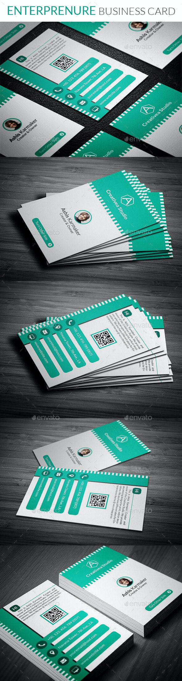 Entrepreneur Business Card - Creative Business Cards