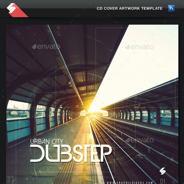 Urban City Dubstep - CD Cover Template