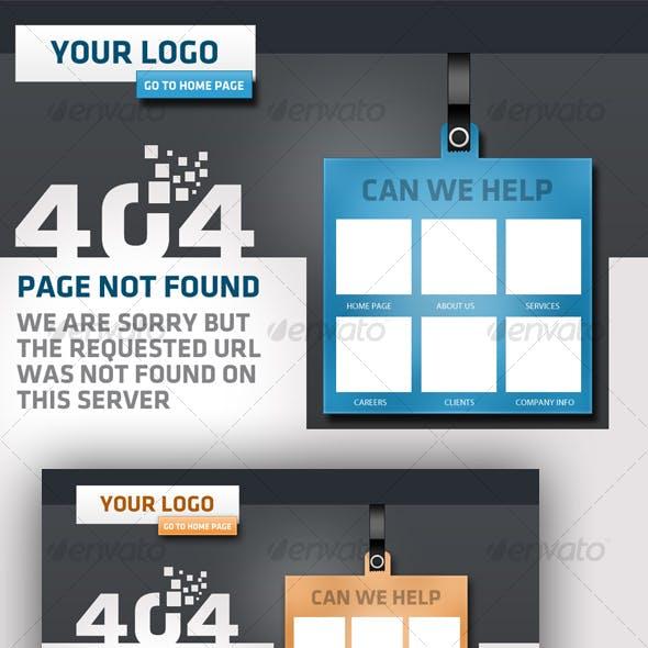 Creative 404 error - Page not found  design