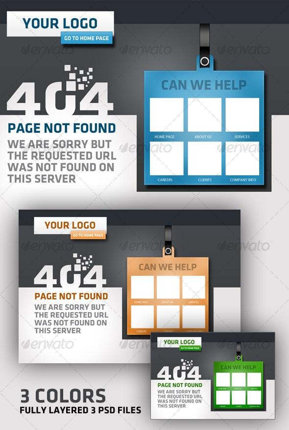 Creative 404 error - Page not found  design - Web Elements