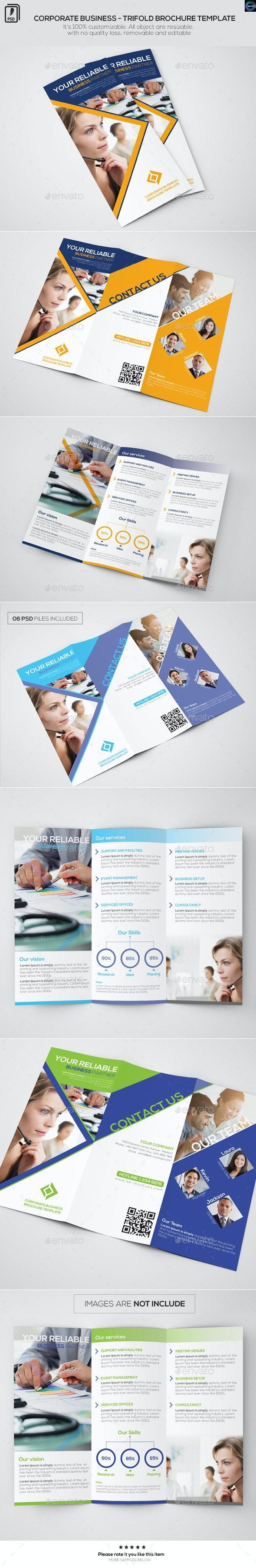 Corporate Business - Trifold Brochure Template - Corporate Brochures