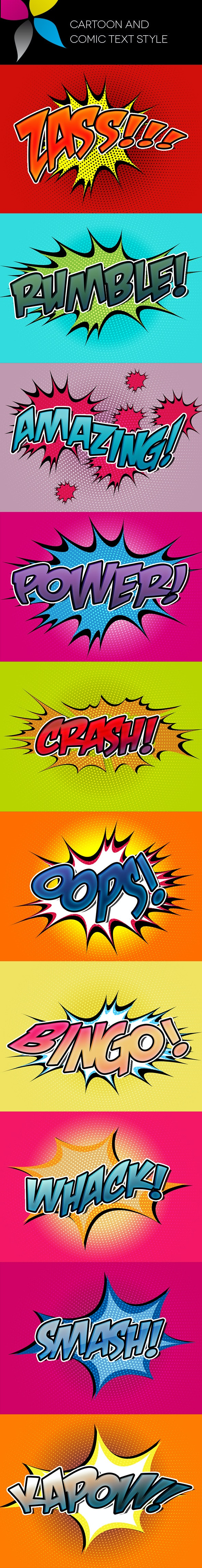 Cartoon and Comic Text Style - Text Effects Styles