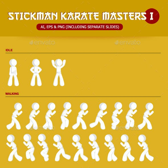 Stickman Karate Masters Sprite Sheet