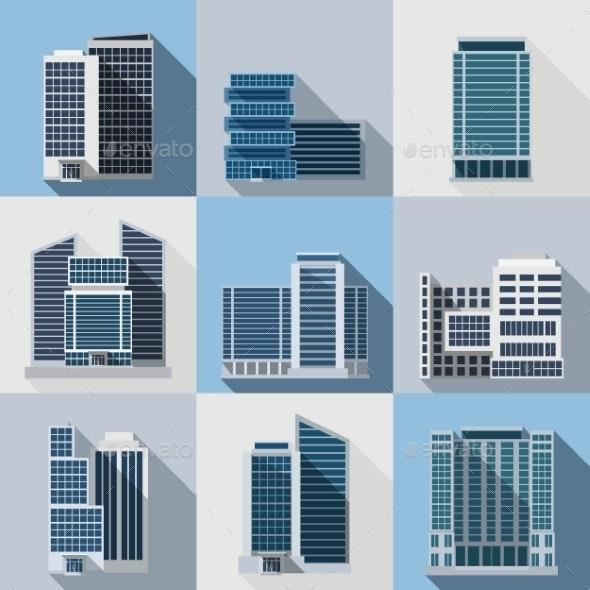 Office Buildings Set - Buildings Objects