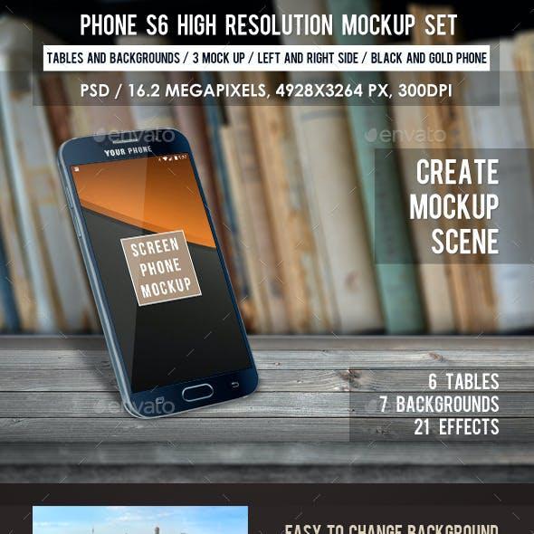Phone S6 High Resolution Mockup Set