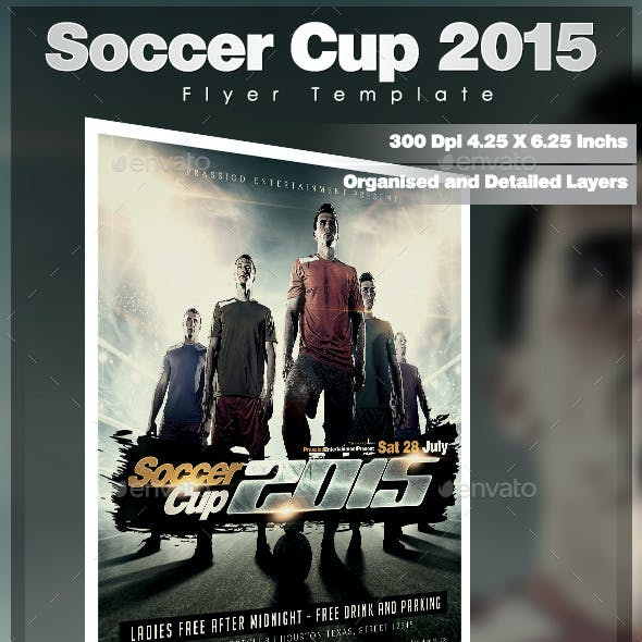 Soccer Cup 2015 Flyer Template