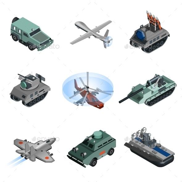 Military Equipment Isometric - Miscellaneous Vectors