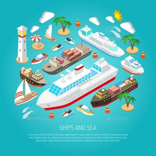 Sea and Ships Concept