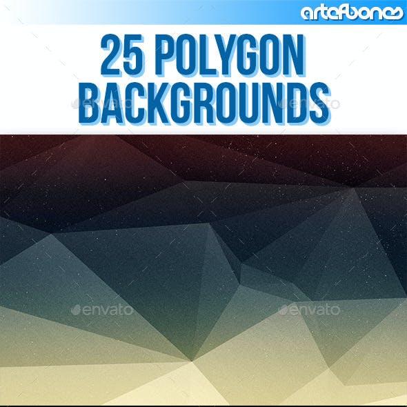 25 Polygon Backgrounds V.4