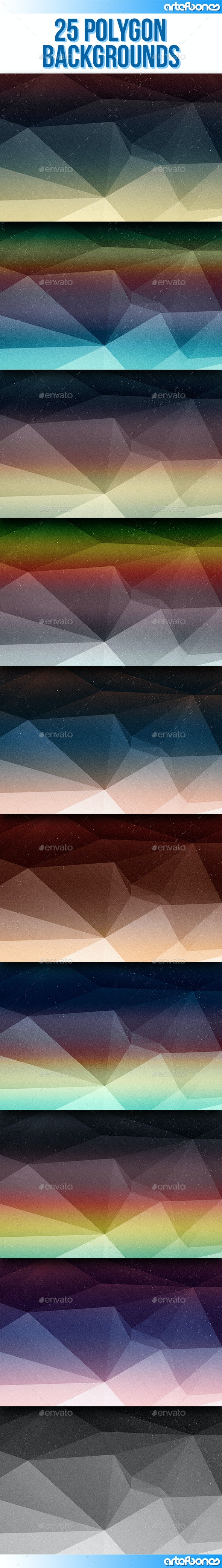 25 Polygon Backgrounds V.4 - Abstract Backgrounds
