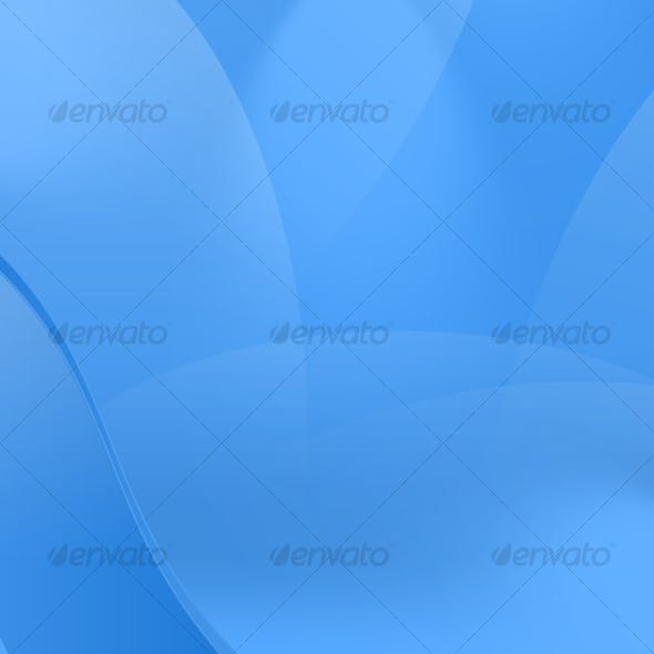 Glossy Blue Curved Abstract Background