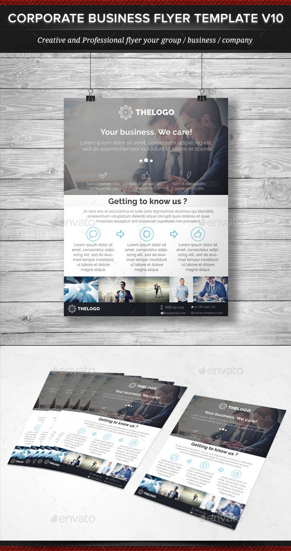 Corporate Business Flyer Template V10 - Corporate Flyers