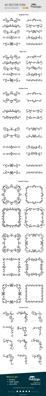 Sketchy Ornament - Flourishes / Swirls Decorative