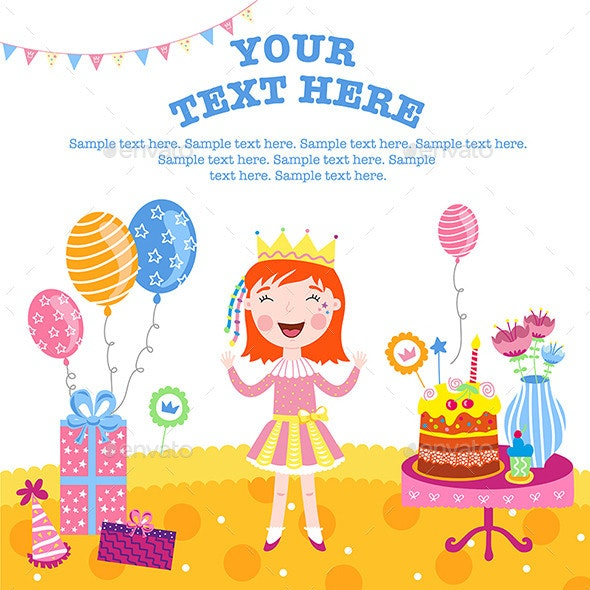 Girl Happy Birthday Gifts - People Characters