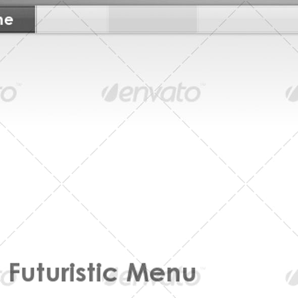 Clean & Futuristic Menu