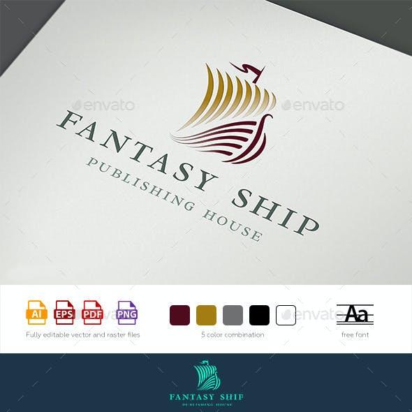 Fantasy Ship Logo Template