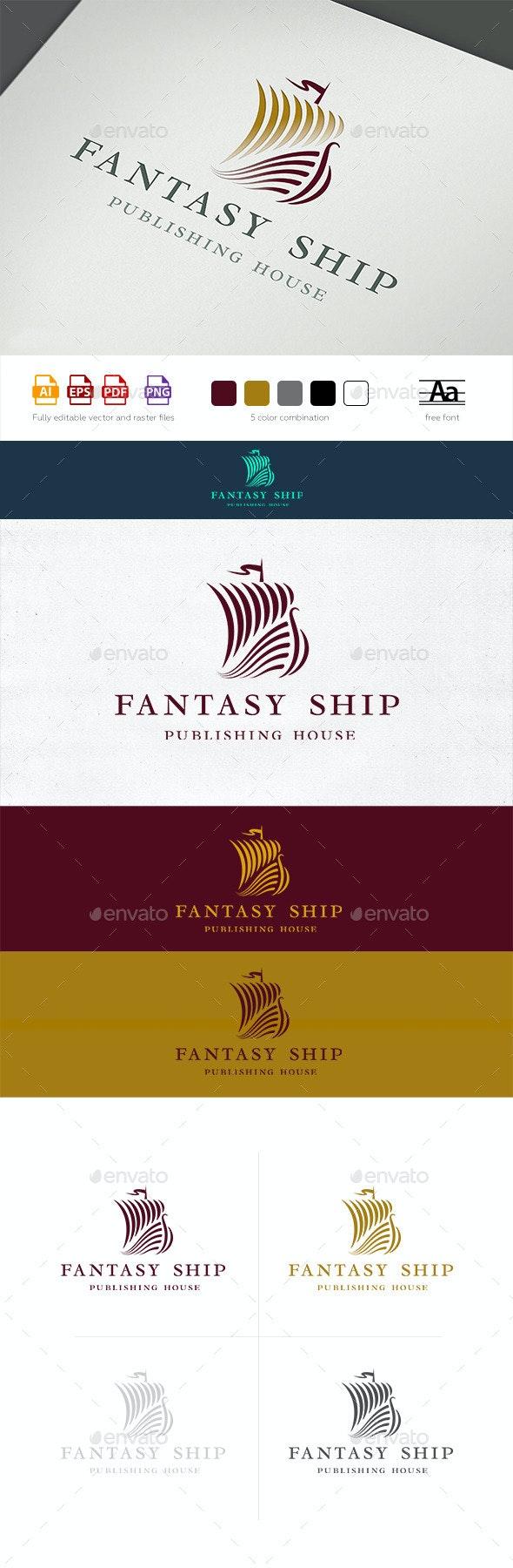 Fantasy Ship Logo Template - Objects Logo Templates